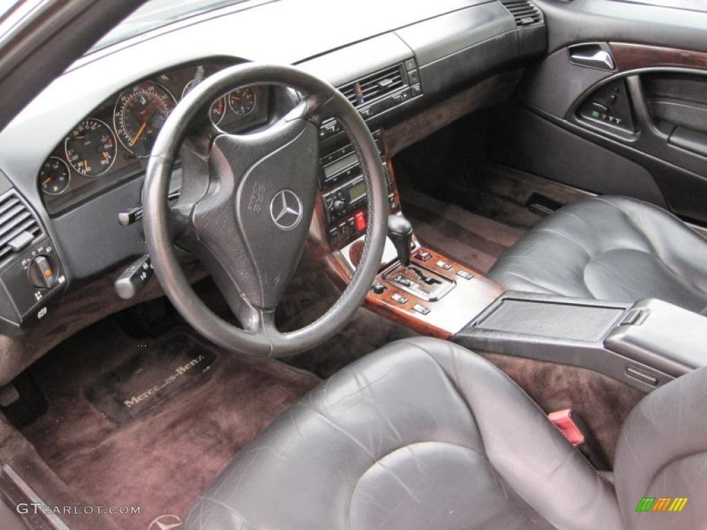 Black Interior 1999 Mercedes Benz Sl 500 Roadster Photo 44631606
