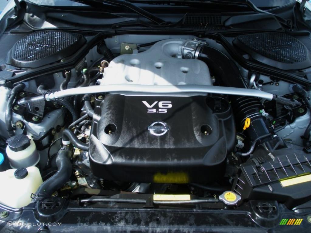 2003 nissan 350z coupe 3 5 liter dohc 24 valve v6 engine. Black Bedroom Furniture Sets. Home Design Ideas