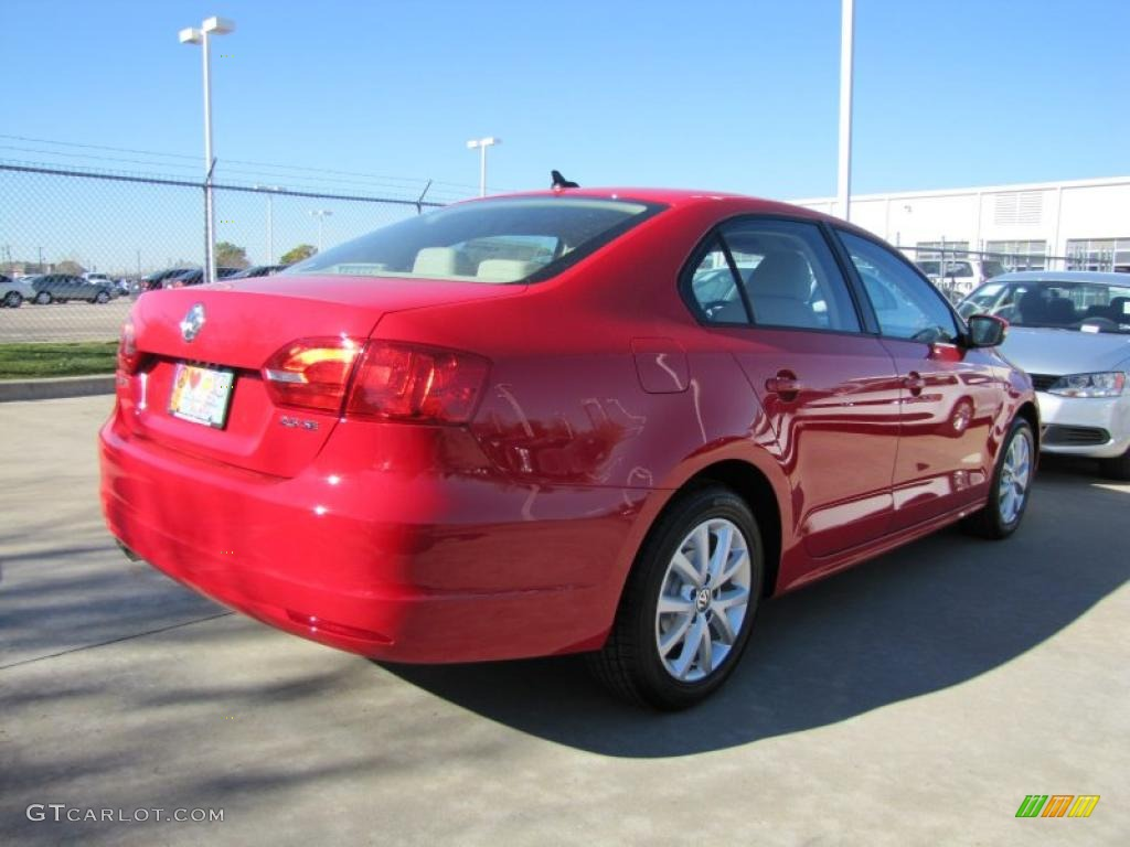 tornado red 2011 volkswagen jetta se sedan exterior photo. Black Bedroom Furniture Sets. Home Design Ideas