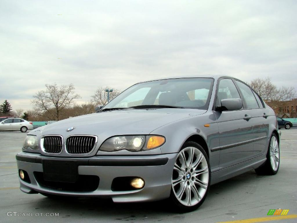 Silver Grey Metallic 2004 Bmw 3 Series 330i Sedan Exterior