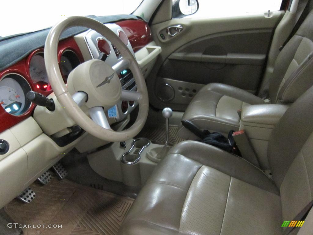 pastel pebble beige interior 2006 chrysler pt cruiser gt. Black Bedroom Furniture Sets. Home Design Ideas