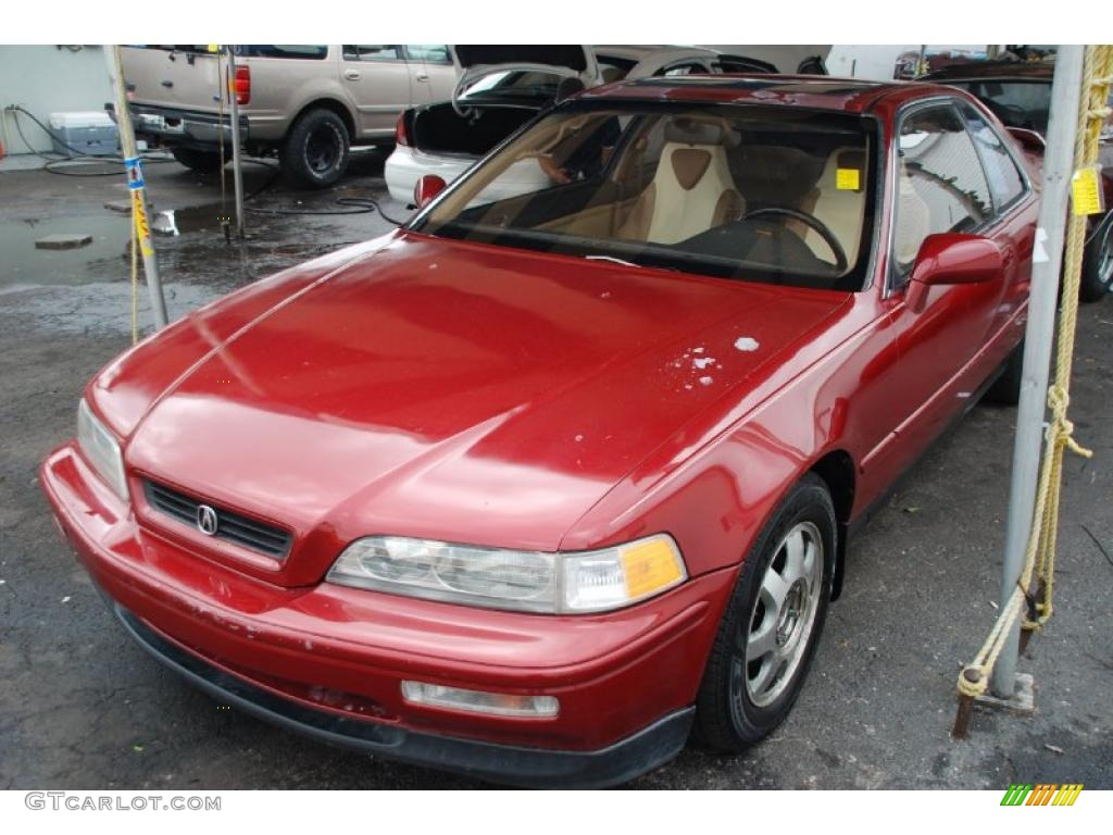 1992 Cassis Red Pearl Acura Legend LS Coupe 44653815