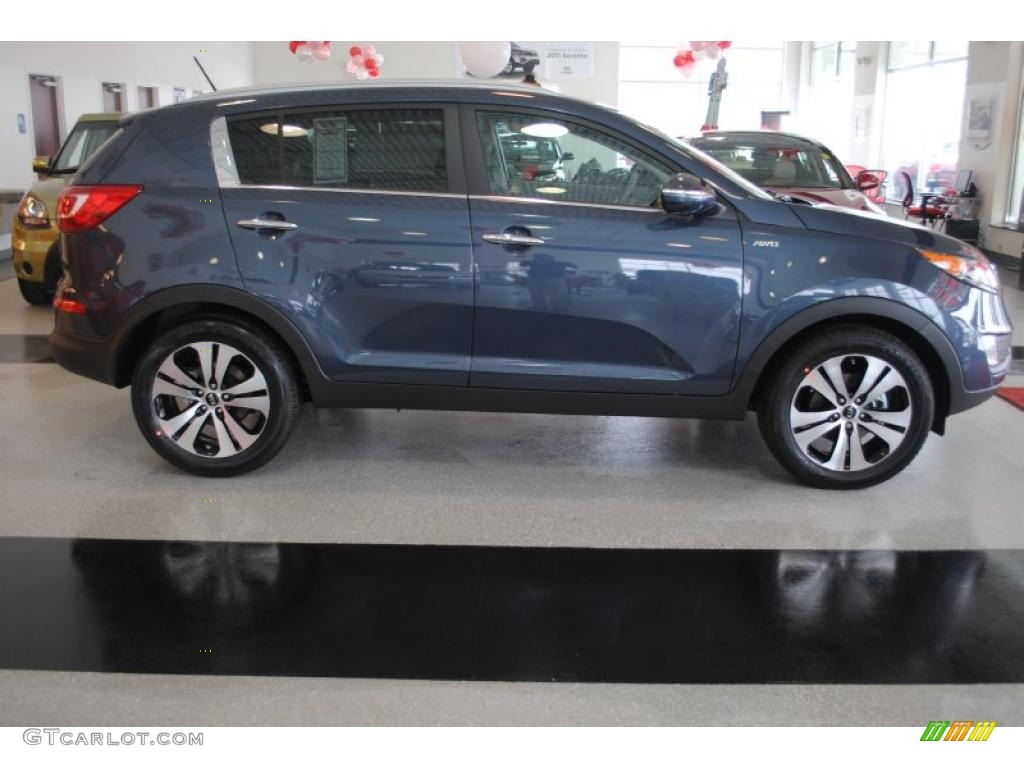 twilight blue 2011 kia sportage ex awd exterior photo 44698705. Black Bedroom Furniture Sets. Home Design Ideas