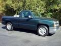 2005 Dark Green Metallic Chevrolet Silverado 1500 Regular Cab  photo #1
