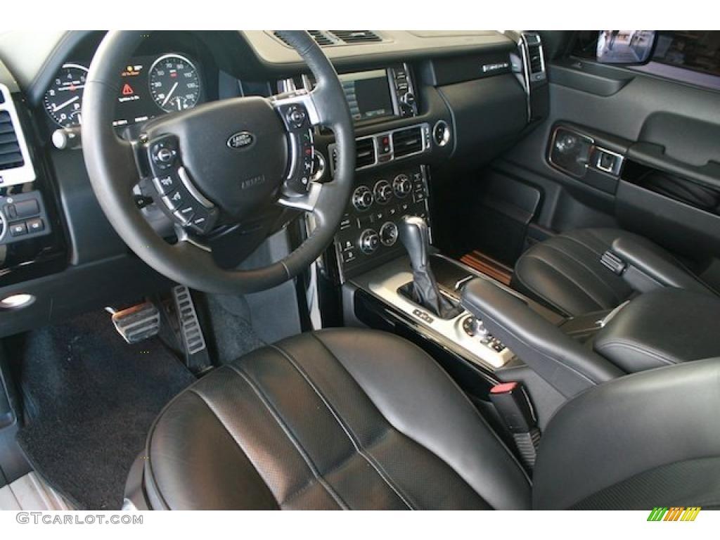 Jet Black Interior 2010 Land Rover Range Rover Supercharged Photo 44709546