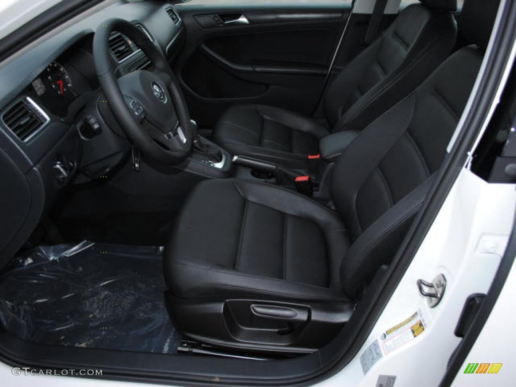 Titan Black Interior 2011 Volkswagen Jetta Se Sedan Photo 44719032