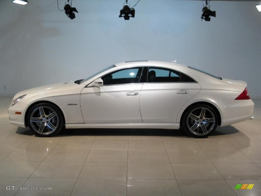 diamond white metallic 2009 mercedes benz cls 63 amg. Black Bedroom Furniture Sets. Home Design Ideas
