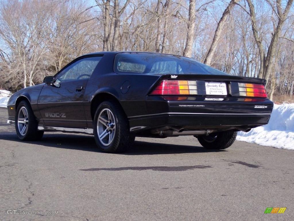 Black 1985 Chevrolet Camaro IROC-Z Exterior Photo ...