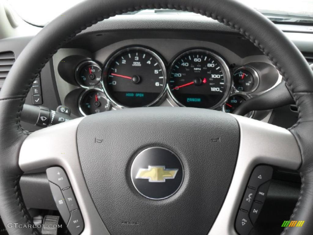 2011 Silverado 1500 LT Crew Cab - Black / Ebony photo #12