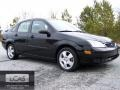2005 Pitch Black Ford Focus ZX4 SES Sedan  photo #1