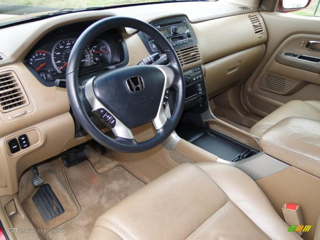saddle interior 2004 honda pilot ex l 4wd photo 44775125. Black Bedroom Furniture Sets. Home Design Ideas