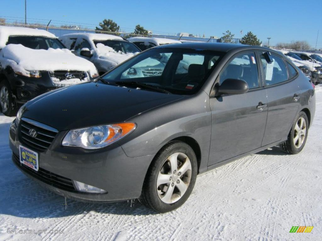 Carbon Gray 2007 Hyundai Elantra Se Sedan Exterior Photo
