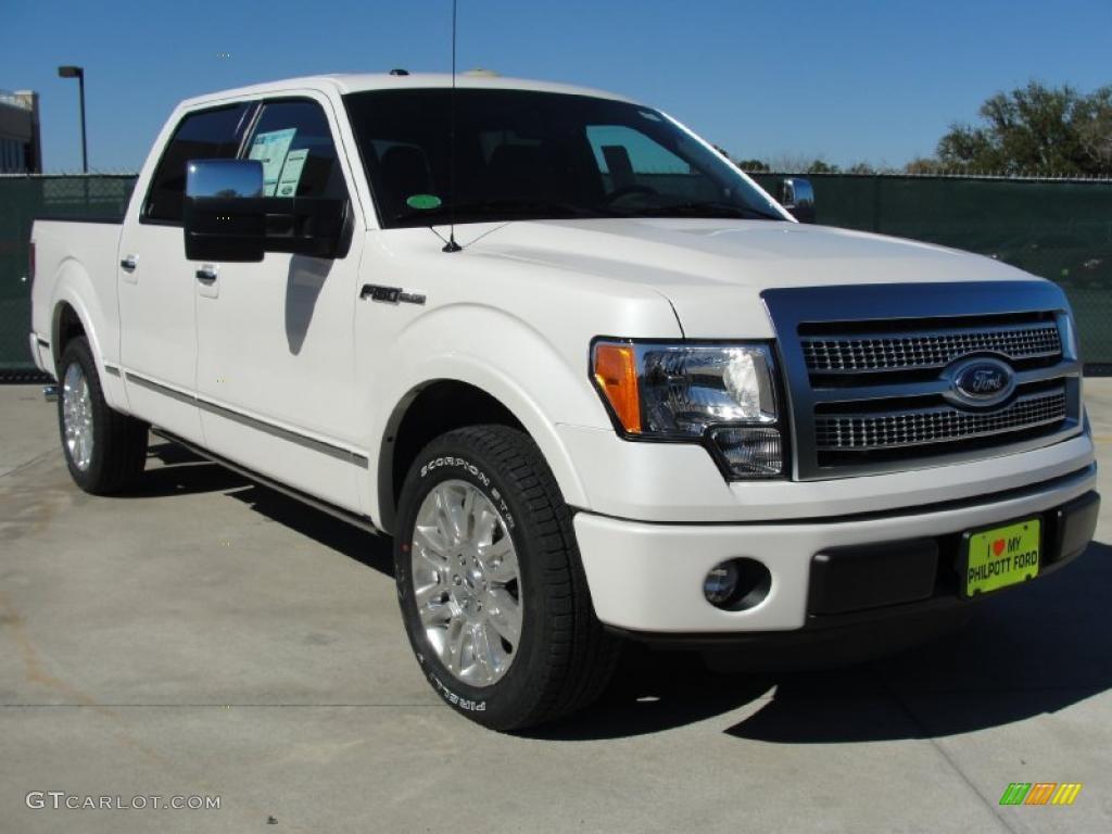 2011 white platinum metallic tri coat ford f150 platinum supercrew 44735527. Black Bedroom Furniture Sets. Home Design Ideas