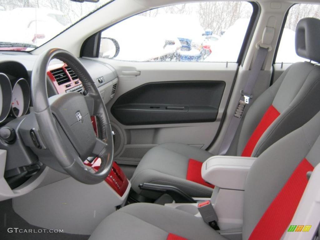 Pastel Slate Gray Red Interior 2007 Dodge Caliber Sxt Photo 44785049