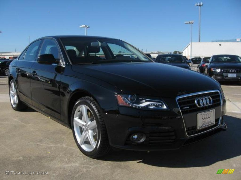 brilliant black 2011 audi a4 2 0t quattro sedan exterior. Black Bedroom Furniture Sets. Home Design Ideas