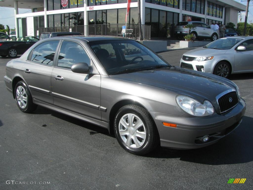 Slate Gray 2002 Hyundai Sonata Lx V6 Exterior Photo