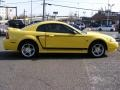 2000 Zinc Yellow Ford Mustang GT Coupe  photo #4