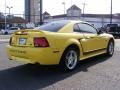 2000 Zinc Yellow Ford Mustang GT Coupe  photo #5