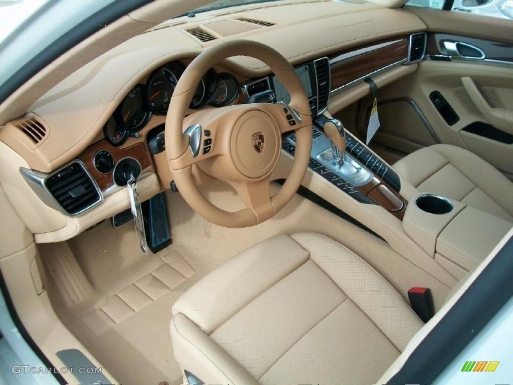 Luxor Beige Interior 2011 Porsche Panamera Turbo Photo 44815048