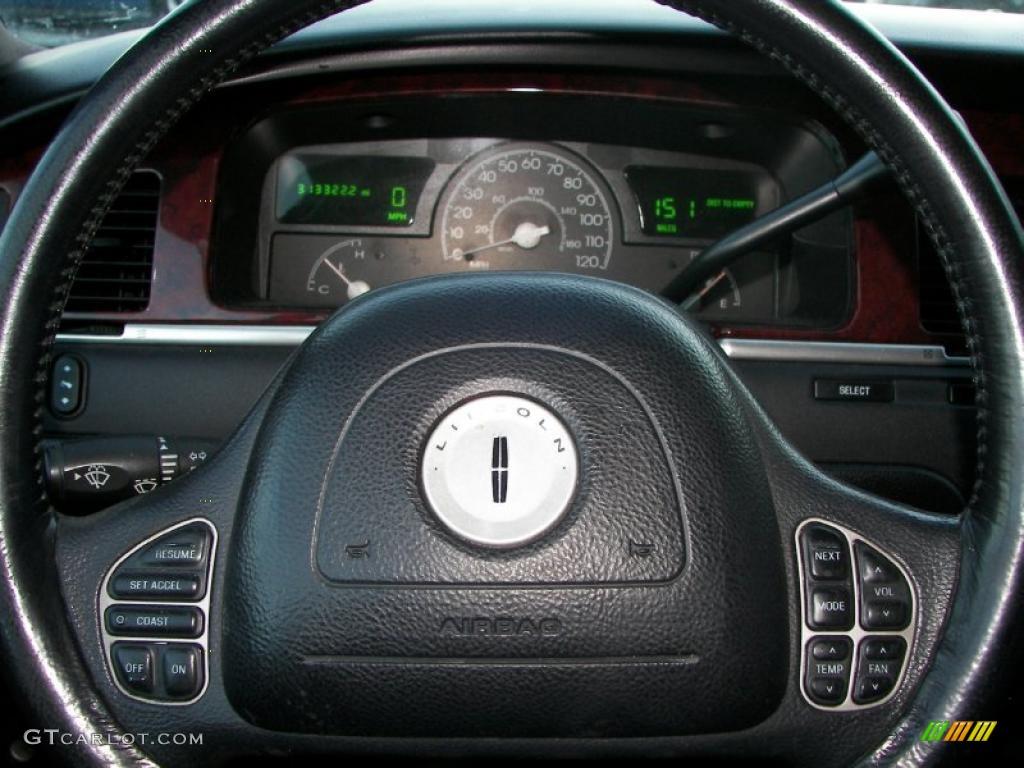 2003 Lincoln Town Car Limousine Black Steering Wheel Photo 44852284