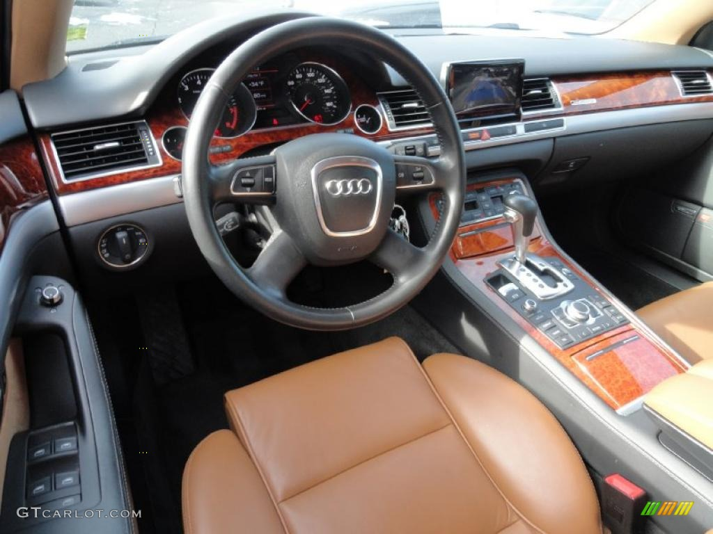 amaretto interior 2008 audi a8 l 4 2 quattro photo. Black Bedroom Furniture Sets. Home Design Ideas