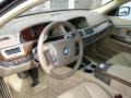 Dark Beige/Beige III 2004 BMW 7 Series 745i Sedan Interior