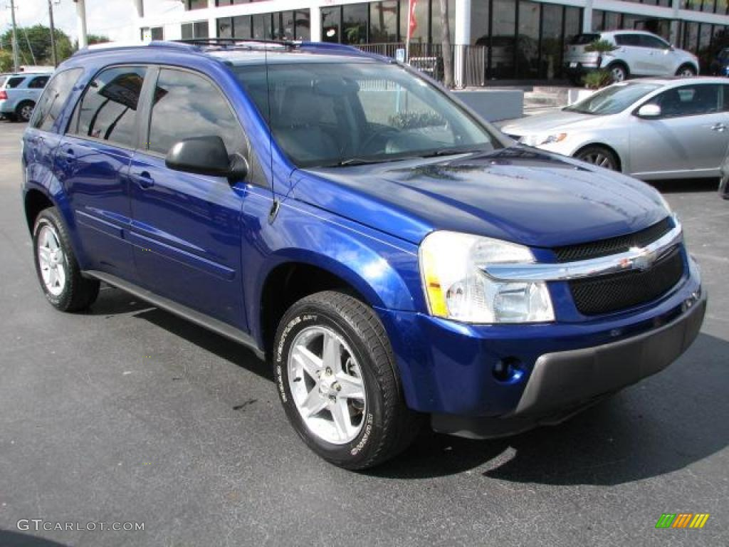2005 laser blue metallic chevrolet equinox lt 44806220. Black Bedroom Furniture Sets. Home Design Ideas