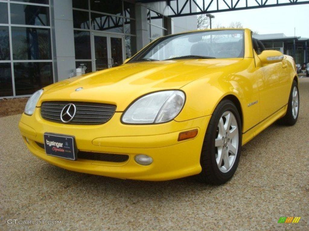 2001 sunburst yellow mercedes benz slk 230 kompressor roadster 44866251 car. Black Bedroom Furniture Sets. Home Design Ideas