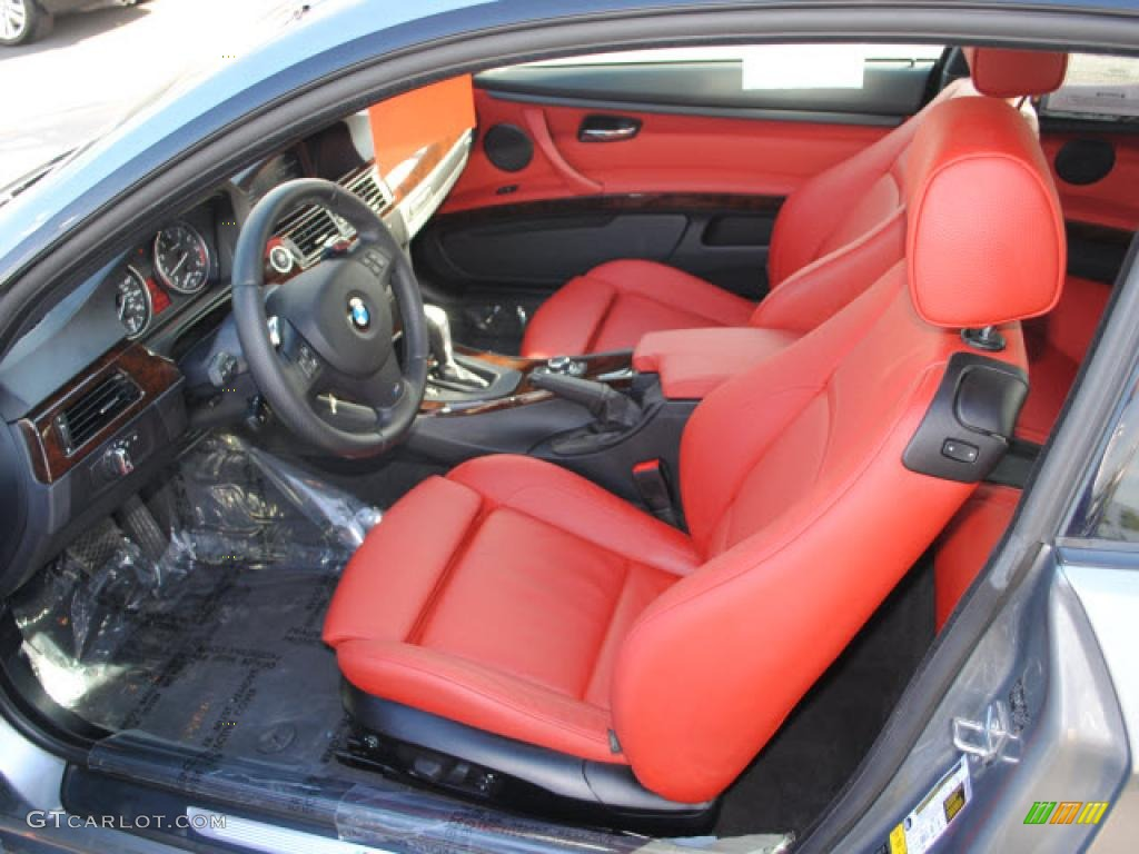 coral red black dakota leather interior 2010 bmw 3 series 335i coupe photo 44892390