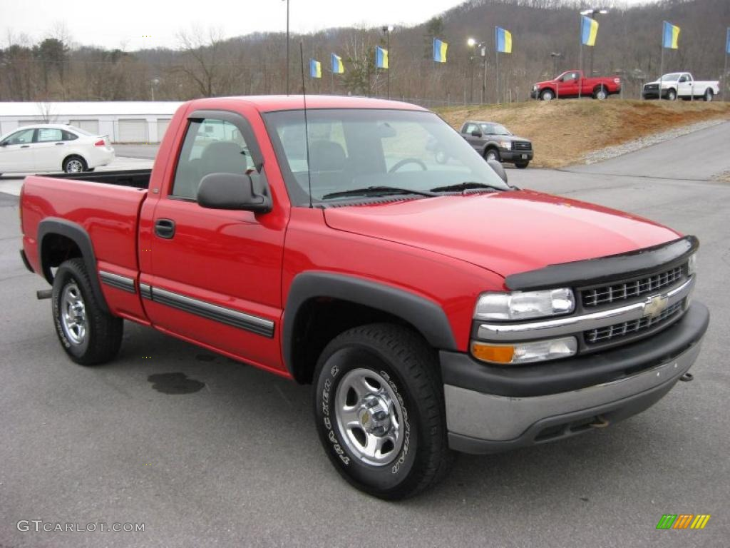 victory red 2001 chevrolet silverado 1500 regular cab 4x4. Black Bedroom Furniture Sets. Home Design Ideas