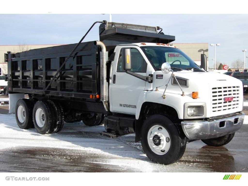 summit white 2005 gmc c series topkick c8500 regular cab dump truck  exterior photo #44905888