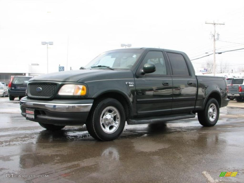dark highland green metallic 2001 ford f150 lariat supercrew exterior. Cars Review. Best American Auto & Cars Review
