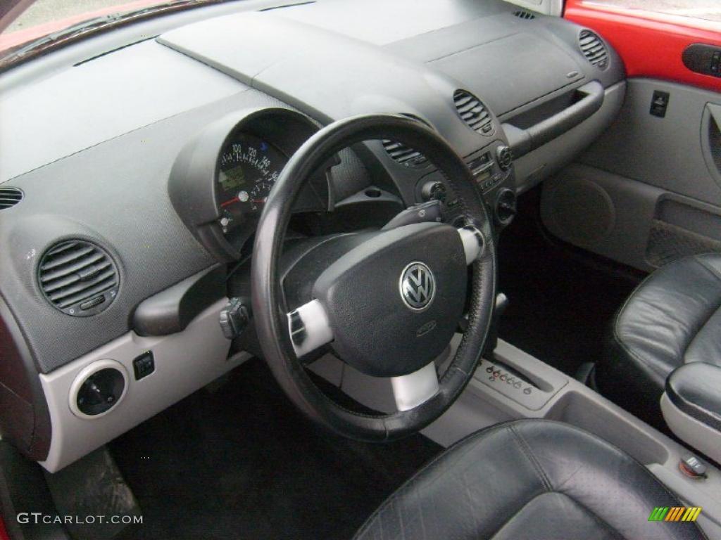 Black Interior 2001 Volkswagen New Beetle Gls 1 8t Coupe Photo 44913276