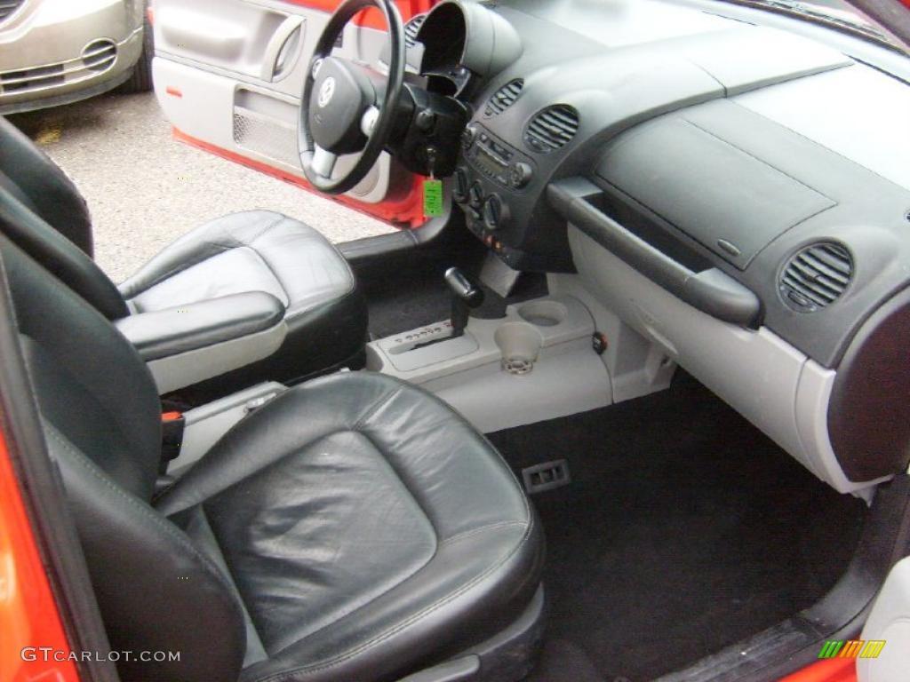 Black Interior 2001 Volkswagen New Beetle Gls 1 8t Coupe Photo 44913347
