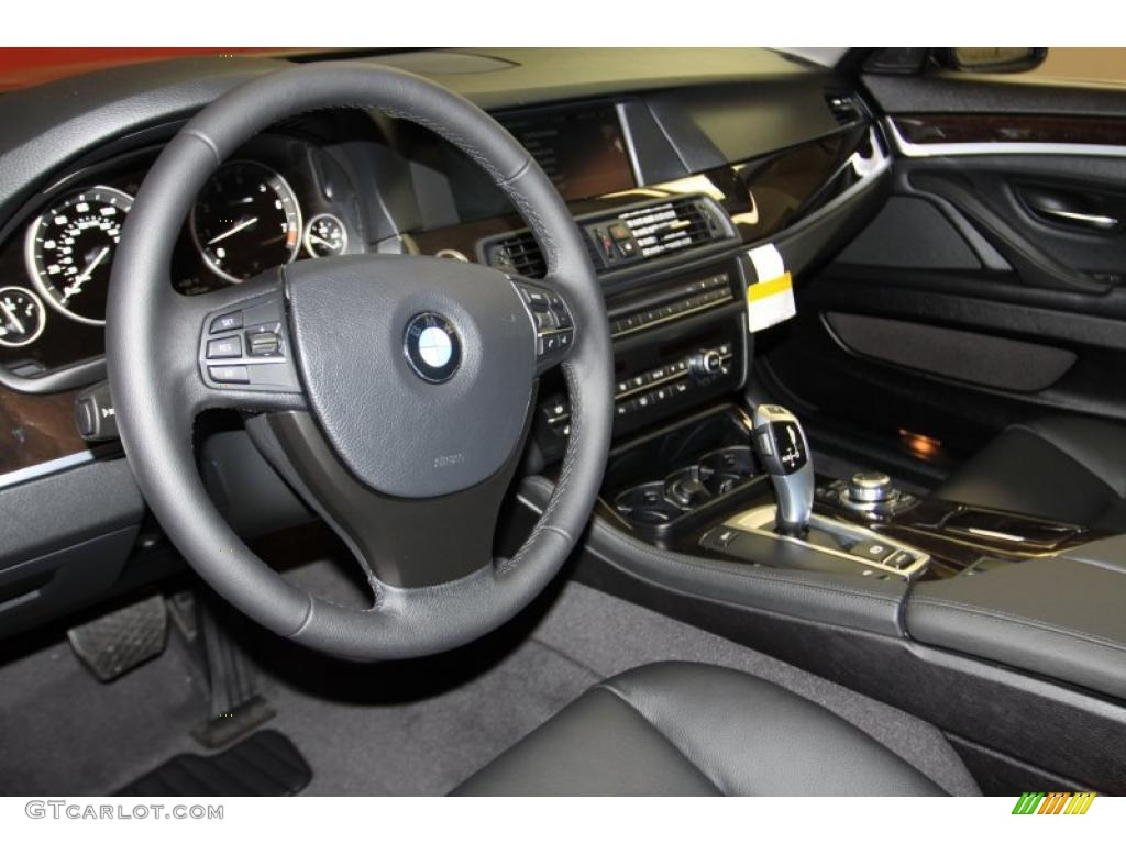 Black Interior 2011 Bmw 5 Series 535i Sedan Photo 44921048