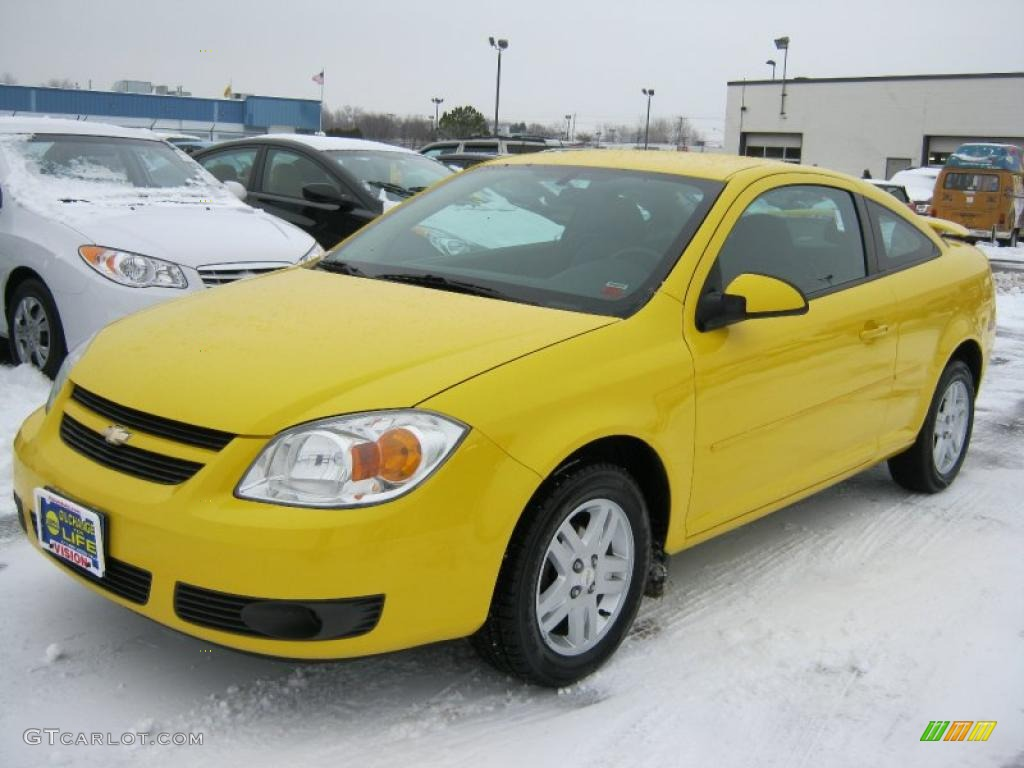 rally yellow 2005 chevrolet cobalt ls coupe exterior photo. Black Bedroom Furniture Sets. Home Design Ideas
