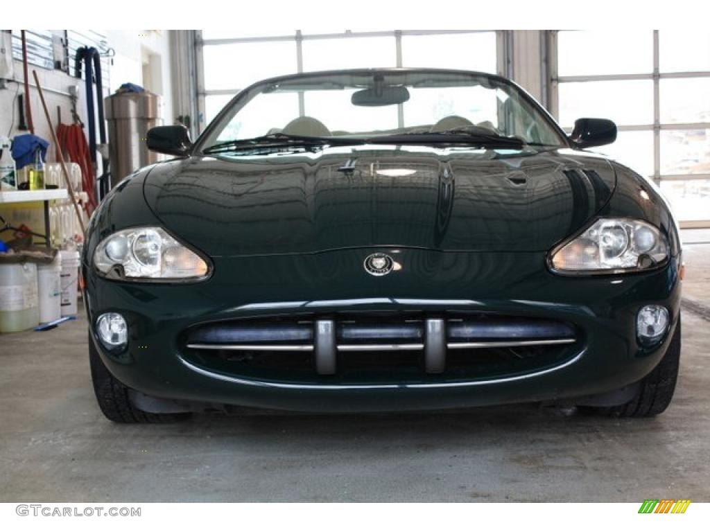 1997 Brooklands Green Jaguar XK XK8 Convertible #44900093