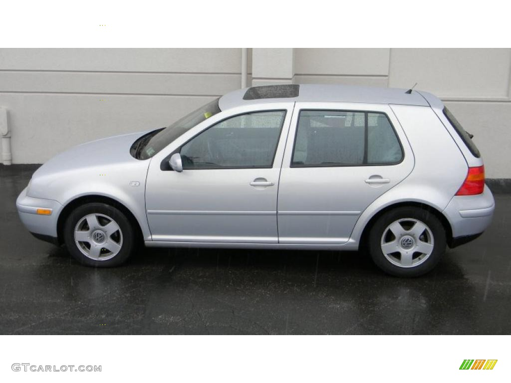 Satin silver 2000 volkswagen golf gls 4 door exterior photo 44951062
