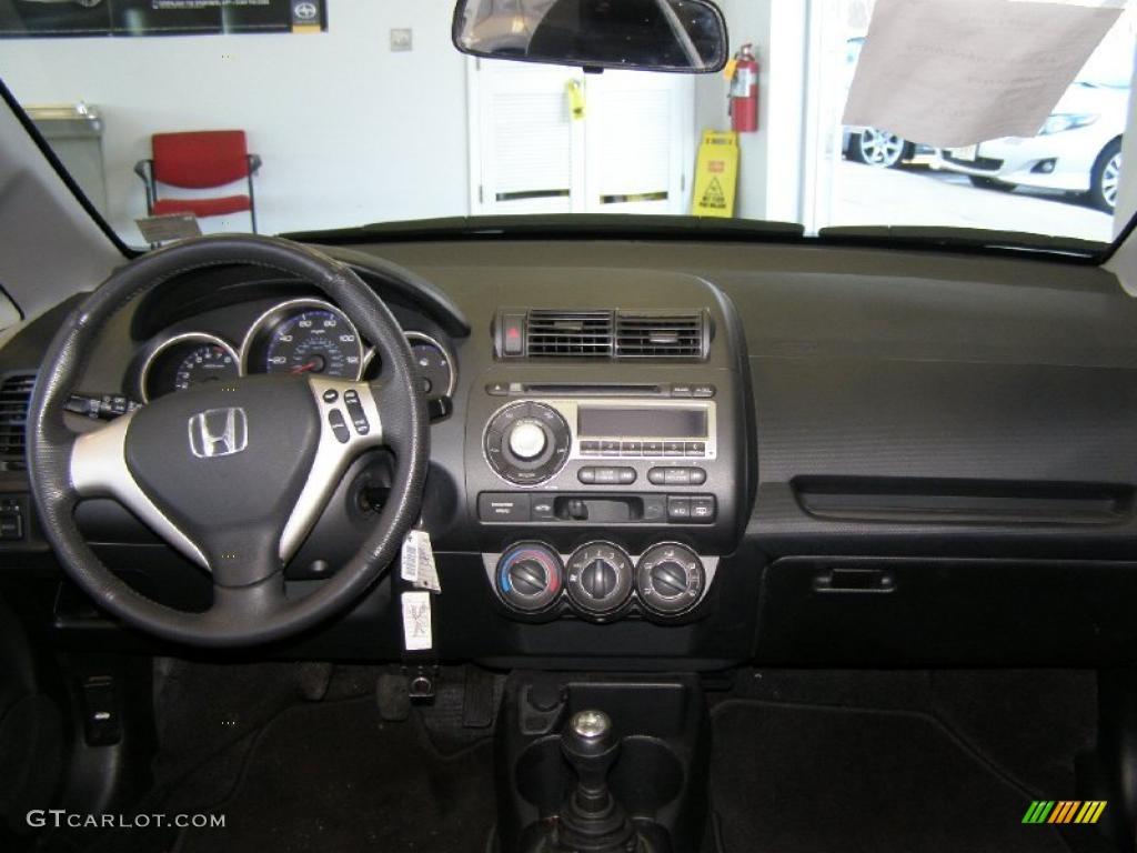 2008 Honda Fit Sport Black Grey Dashboard Photo 45000198