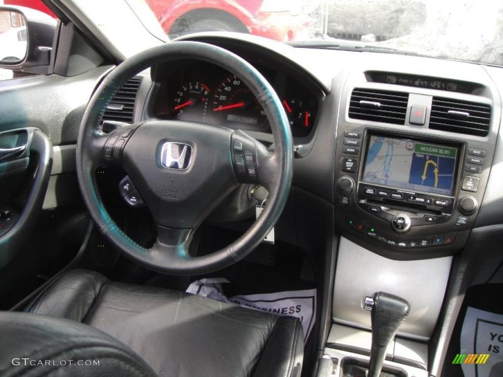 2003 Honda Accord EX Coupe Black Dashboard Photo #45002792