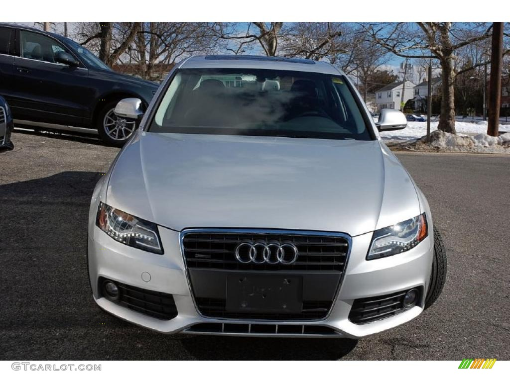 ice silver metallic 2009 audi a4 2.0t quattro sedan exterior photo