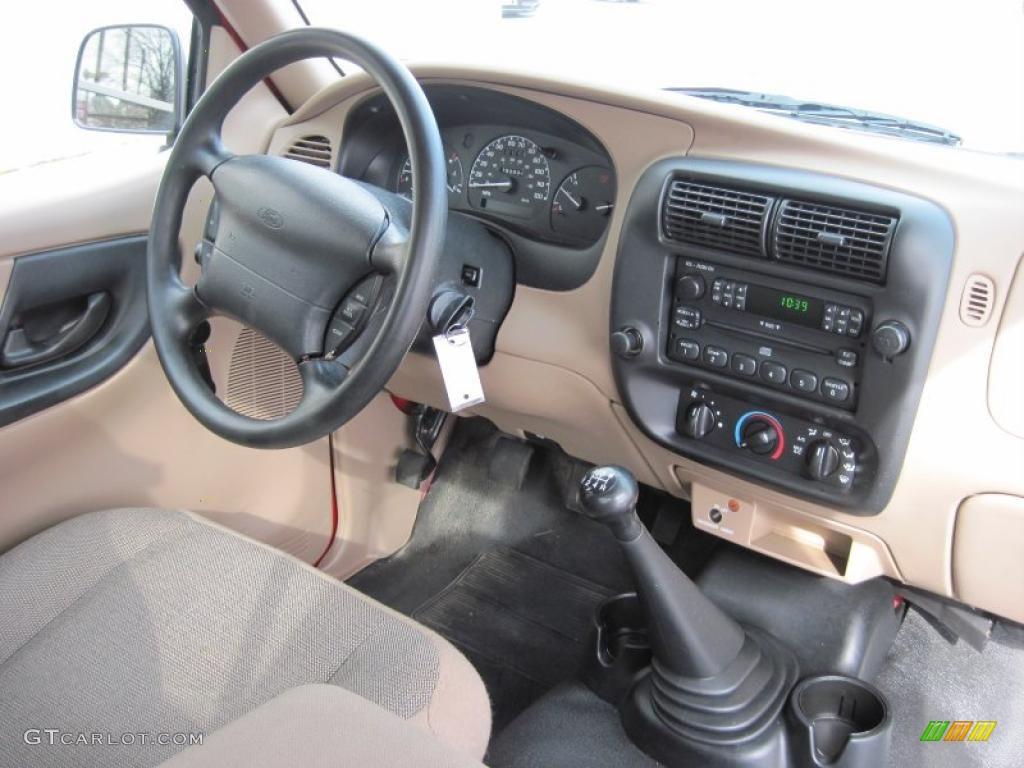 2000 Ford Ranger Sport Regular Cab Medium Prairie Tan Dashboard Photo 45023573