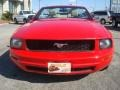 2007 Torch Red Ford Mustang V6 Deluxe Convertible  photo #9