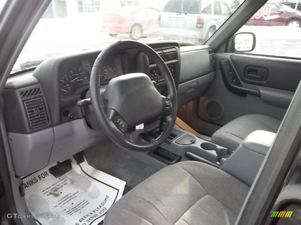 Mist Gray Interior 1998 Jeep Cherokee Classic 4x4 Photo 45043277