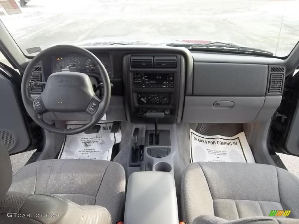 1998 Jeep Cherokee Clic 4x4 Mist Gray Dashboard Photo 45043445