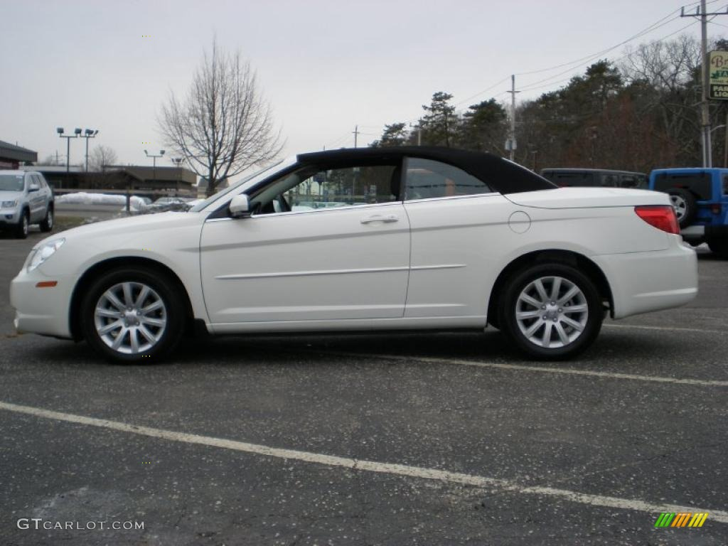 Stone white 2010 chrysler sebring touring convertible exterior photo 45064875 gtcarlot com