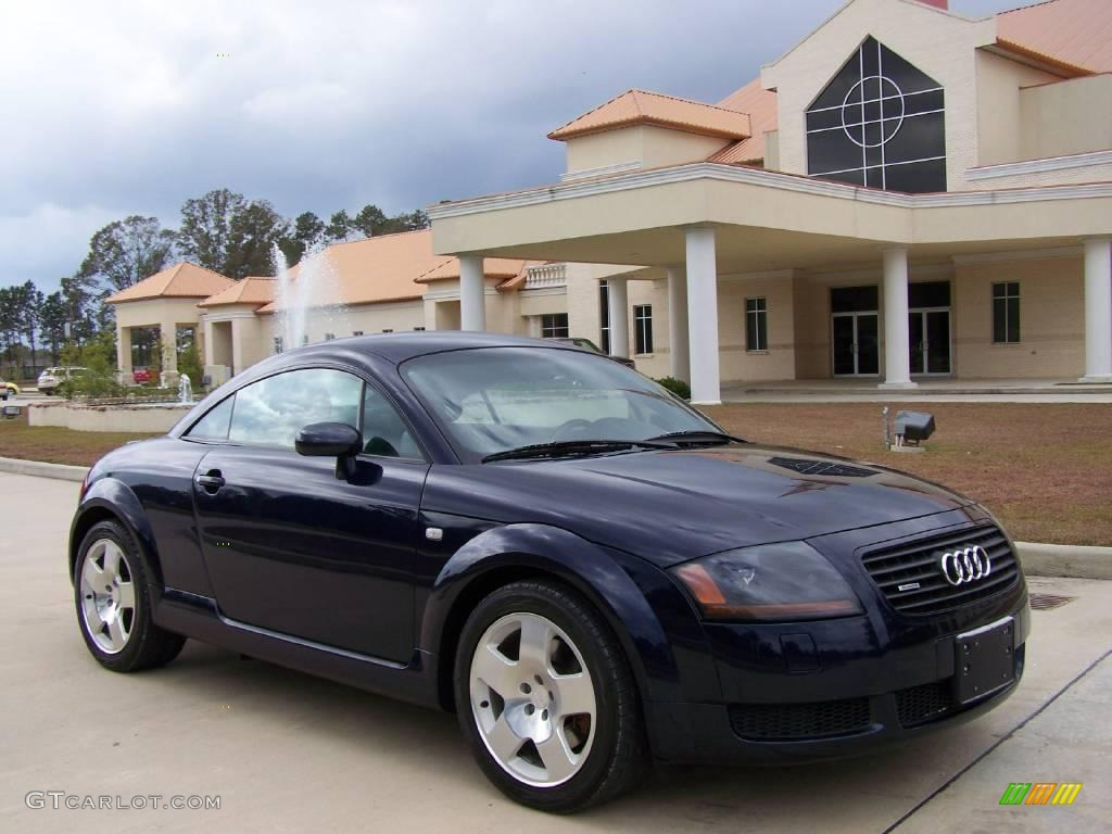 2002 tt 1 8t quattro coupe moro blue pearl effect aviator grey photo