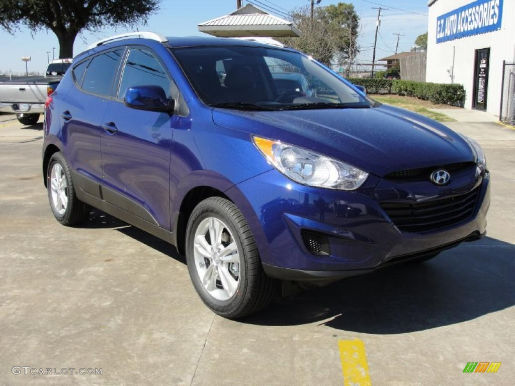 iris blue 2011 hyundai tucson gls exterior photo 45099176. Black Bedroom Furniture Sets. Home Design Ideas