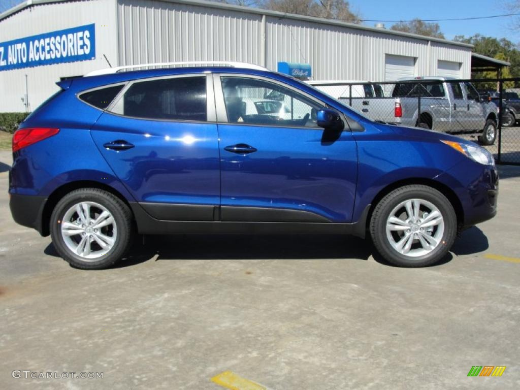 iris blue 2011 hyundai tucson gls exterior photo 45099182. Black Bedroom Furniture Sets. Home Design Ideas