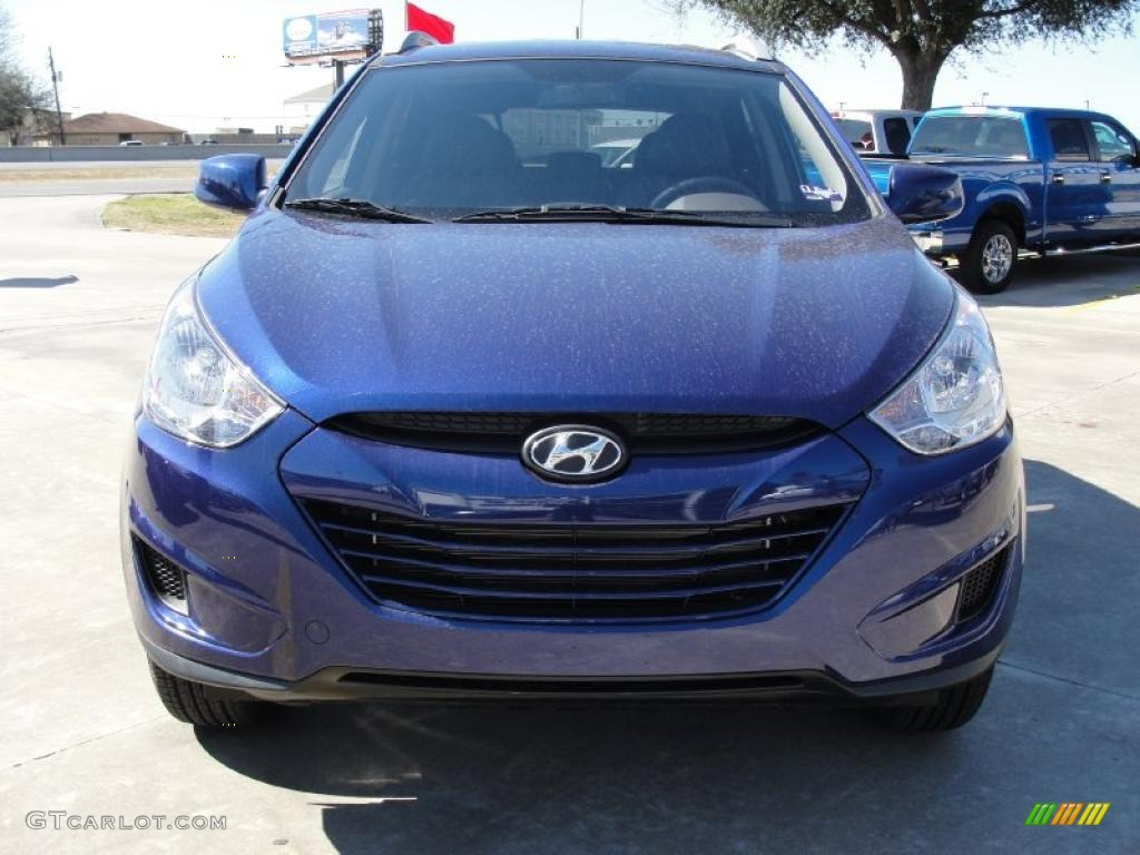 iris blue 2011 hyundai tucson gls exterior photo 45099258. Black Bedroom Furniture Sets. Home Design Ideas
